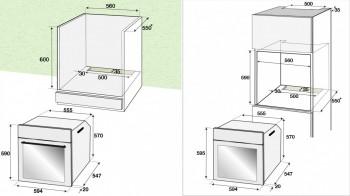 Beko Einbaubackofen mit Dampfgar-Funktion EEK: A+ schwarz BIDM15500XDS