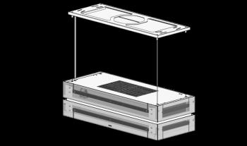 Berbel Deckenlifthaube Skyline Edge BDL 95 SKE-I Unterschale Glas weiß 1050180  inkl. 5 Jahre Garantie
