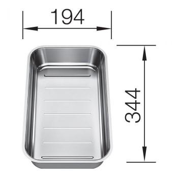 Blanco Multifunktionsschale Edelstahl 344x194 mm 232180