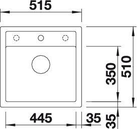 Blanco Blancodalago 5 alumetallic Unterbau 50cm 518522