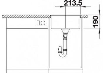 BLANCO SUBLINE 400-F Granitspüle aus SILGRANIT® PuraDur® felsgrau 523495