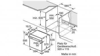 Bosch Herdset Exclusiv HND672MS66 best. aus: HEH378BS0 + NKH645GA1M + HEZ317000