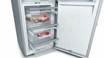 Bosch Kühlschrank Edelstahl : Bosch stand kühlschrank türen edelstahl mit anti fingerprint