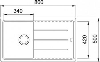 Franke Spüle 45cm Basis-BFG 611-86 Fragranit Graphit 1140336938