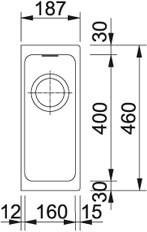 Franke Spülen 30cm Kubus-KBG 110-16 Fragranit Graphit 125.0023.843