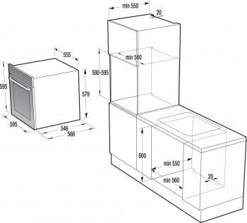 Gorenje Kompakt-Einbaubackofen-Dampfgarer BCS798S24X