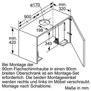 Neff Flachschirmhaube 90cm Silbermetallic DED 4952 X D49ED52X0
