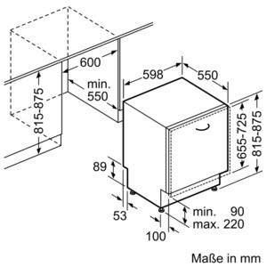 Neff Geschirrspüler vollintegrierbar GV 2500 A S511A50X0E