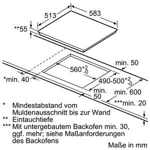 Siemens Induktions-Kochstelle 60cm Glaskeramik EH645FFB1E