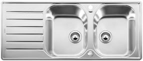 Blanco Edelstahlspüle LANTOS 8 S-IF Compact reversibel 519713