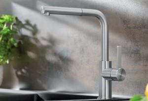 Blanco LANORA-S  Armatur Einhebelmischer Hochdruck metallische Oberfläche Edelstahl gebürstet  523123