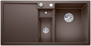 Blanco Granitspüle aus SILGRANIT® PuraDur® COLLECTIS 6 S Becken rechts cafe 523353