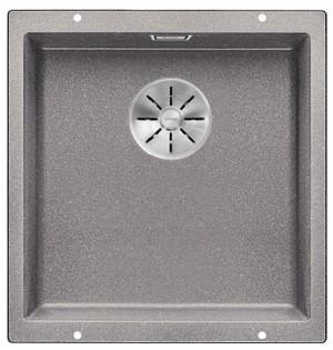 BLANCO SUBLINE 400-U Granitspüle aus SILGRANIT® PuraDur® alumetallic  523424