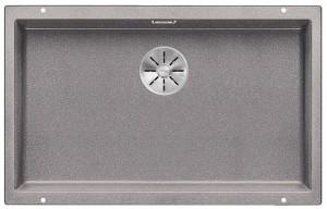 BLANCO SUBLINE 700-U Granitspüle aus SILGRANIT® PuraDur®  alumetallic  523444