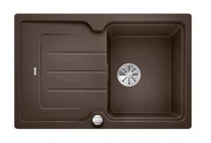 BLANCO CLASSIC Neo 45 S Granitspüle aus SILGRANIT® PuraDur® mit Kunststoffschneidebrett cafe  524014
