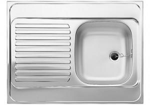 Blanco Auflagespüle R-ES 8x6 Edelstahl Naturfinish 510500