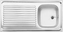 Blanco Auflagespüle R-ES 10x5 Edelstahl Naturfinish 510502