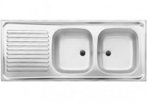 Blanco Auflagespüle R-ZS 12x5-2 Edelstahl Naturfinish 510504