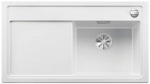 Blanco Silgranitspüle PuraDur® ZENAR 5 S-F Becken rechts weiß 523869