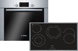 Bosch Herdset HBD38CS50 bestehend aus:HBA33B250, PKH845B17