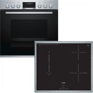 Bosch Herdset HND616LS66 best. aus: HEB517BS1 + NVS645CB5E