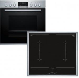 Bosch Herdset HND617LS65 best aus: HEB517BS1 + NVQ645CB5E