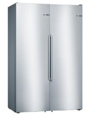 Bosch Kühl Set KAF95PI4P Side by Side bestehend aus: KSF36PI4P + GSN36AI4P + und Verbindungssatz KSZ39AL00, Gesamtbreite 120 cm