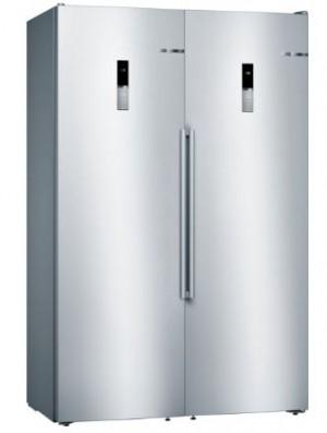 Bosch Kühl Set KAN95BI3P Side by Side bestehend aus: KSV36BI3P + GSN36BI3P + und Verbindungssatz KSZ39AL00, Gesamtbreite 120 cm