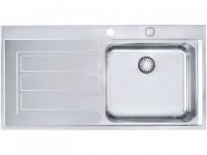 Franke Einbau-Edelstahlspüle Rechts gebürstet EOX 611 1010380302