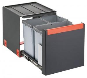 FRANKE  Cube 40 1x14l 2x7l Kunststoff schwarz  134.0039.329