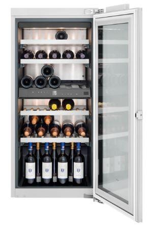 Gaggenau Weinklimaschrank, Voll integrierbar, mit Glastür, Nischenbreite 56 cm, Nischenhöhe 122 cm RW 222 260