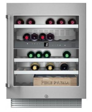 Gaggenau Weinklimaschrank Unterbaufähig, Glastür mit Edelstahlrahmen, Nischenbreite 60 cm, Nischenhöhe 82 cm RW 404 261
