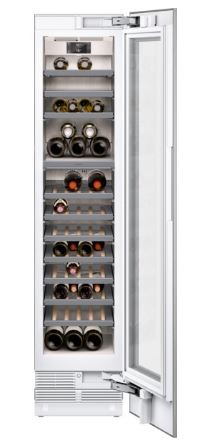 Gaggenau Vario Weinklimaschrank Serie 400 Voll integrierbar, mit Glastür Nischenbreite 45.7 cm, Nischenhöhe 213.4 cm RW414364