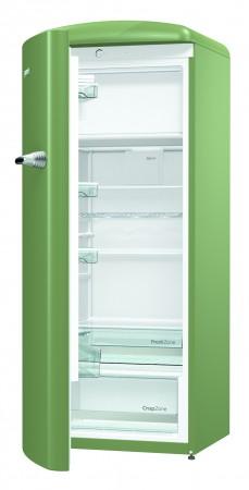 Gorenje Kühlschrank Olive Türanschlag Links ORB153OL-L