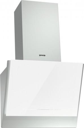 Gorenje Kaminhaube 60cm Edelstahl mit weißen Glaseinsatz WHI651S1XGW