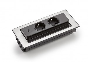 Naber Evoline BackFlip-USB mit Schukosteckdosen 8031151