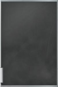 Neff Türfront schwarz mit Alu-Dekorra KF1213S0