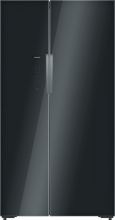 Siemens Kühl-/Gefrierkombination SideBySide schwarz KA92NLB35
