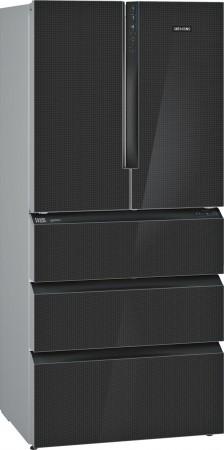 Siemens Kühl-Gefrier-Kombination mehr-türig Schwarz (Glas) iQ700 KF86FPB2A