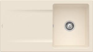 Villeroy & Boch Spüle Siluet 50 Edelweiss CeramicPlus Handbetätigung 333501S3