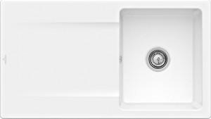 Villeroy & Boch Spüle Siluet 50 Snow White CeramicPlus Handbetätigung 333501KG