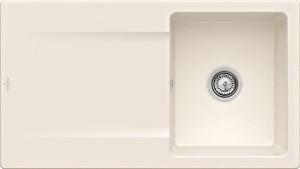 Villeroy & Boch Spüle Siluet 50 Crema CeramicPlus Handbetätigung 333501KR