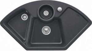 Villeroy & Boch Solo Eck Eckspüle Graphit Keramik 1075x600  670800I4