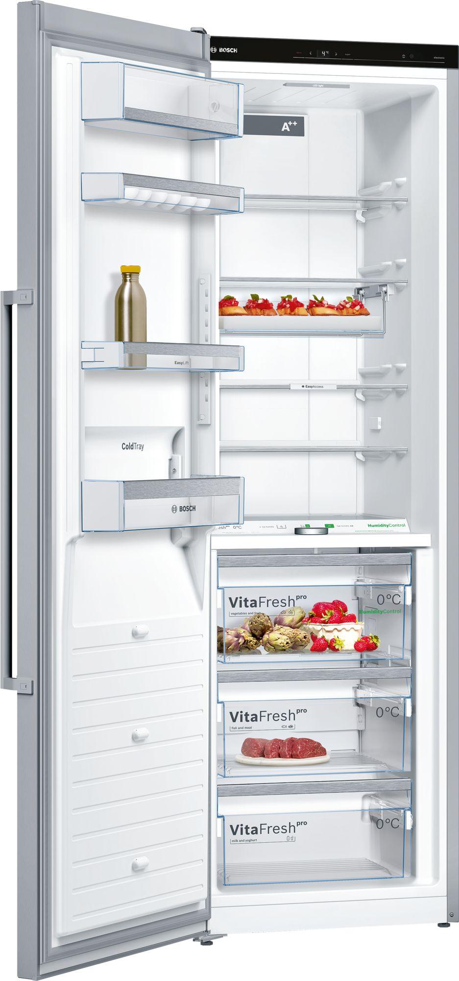 Bosch Stand Kühlschrank Türen Edelstahl Mit Anti Fingerprint KSF36PI3P