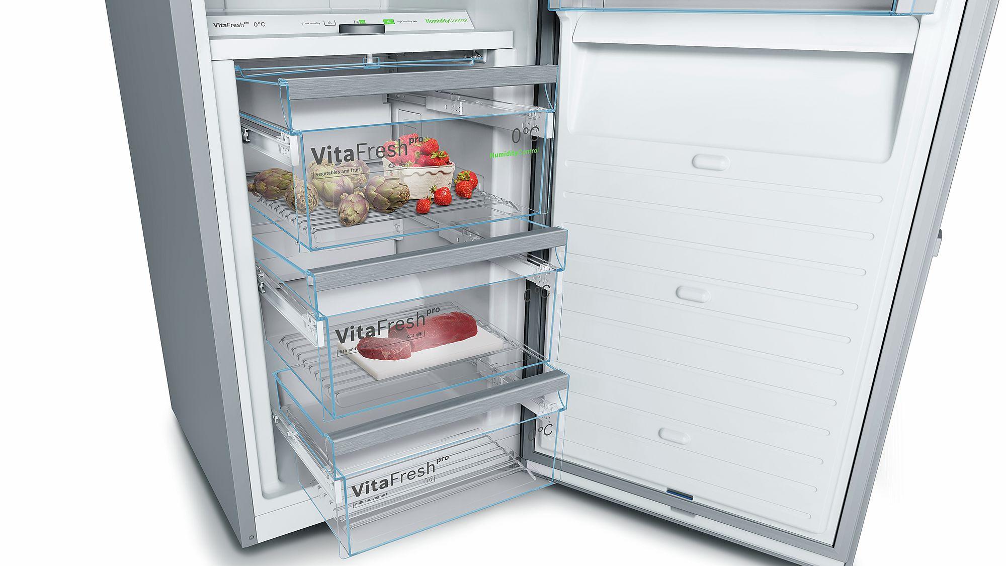 Kühlschrank Bosch : Bosch stand kühlschrank türen edelstahl mit anti fingerprint