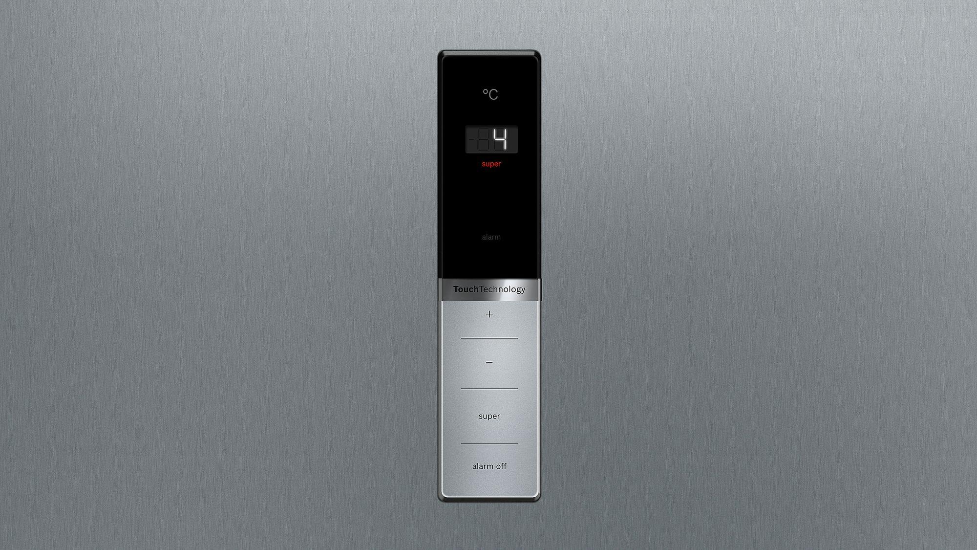 Kühlschrank Tür Alarm : Bosch stand kühlschrank türen edelstahl mit anti fingerprint