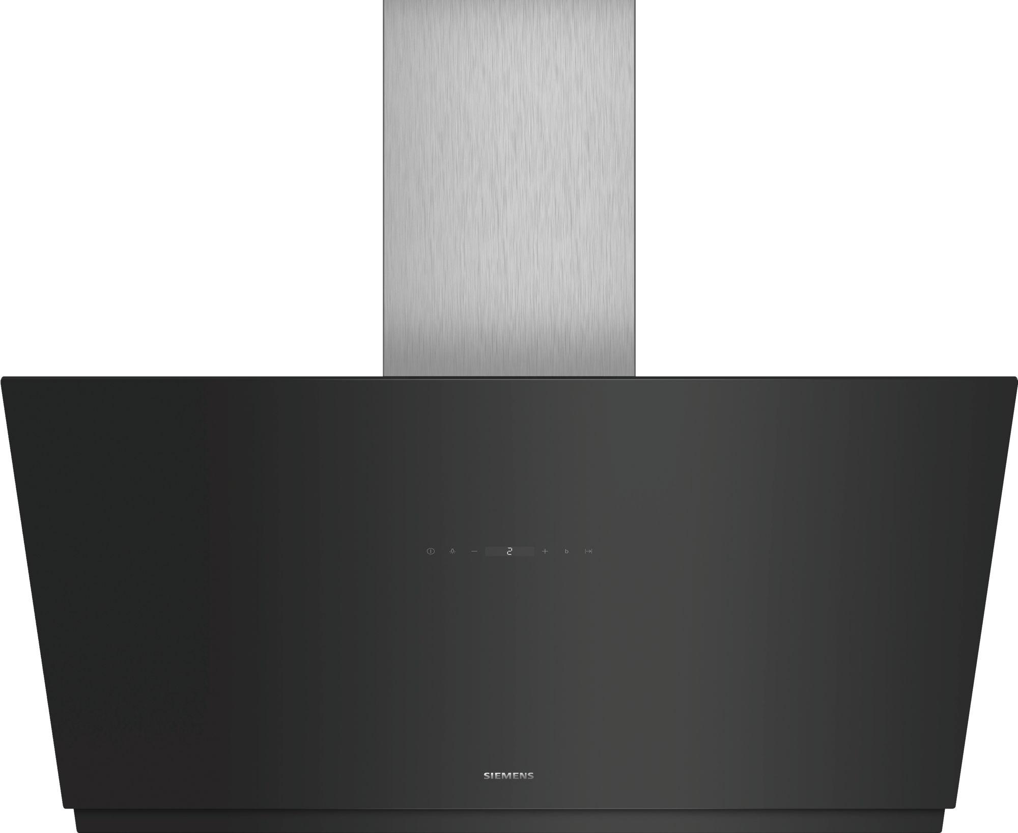 Siemens schräg esse schwarz mit glasschirm cm iq lc kmp